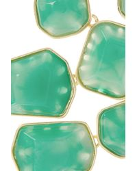 Kenneth Jay Lane Green Goldplated Resin Necklace