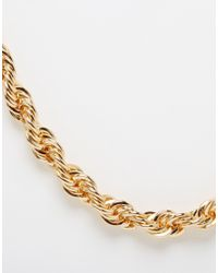 ASOS | Metallic Longline Chunky Chain Necklace for Men | Lyst