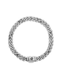 David Yurman | Metallic Petite Pavé Curb Link Bracelet With Diamonds | Lyst