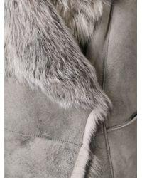 Giorgio Brato - Gray Fur Gilet - Lyst