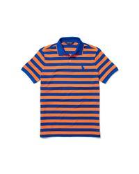 Ralph Lauren - Blue Slim-fit Striped Piqué Polo for Men - Lyst