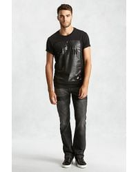 True Religion | Black Handpicked Cut Out Crew Neck Mens T-shirt for Men | Lyst