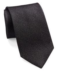 William Rast Black Silk Woven Tie for men