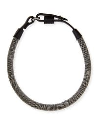 Brunello Cucinelli - Metallic Monili Chain-Wrapped Necklace - Lyst