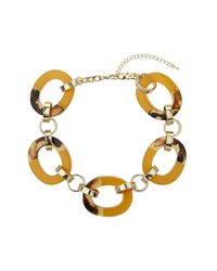 TOPSHOP - Yellow Mustard Chunky Link Collar - Lyst