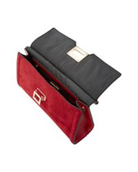Dune Red Eliana Bar Top Front Lock Clutch Bag