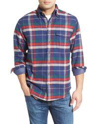 Vineyard Vines - Blue 'crosby Plaid' Classic Fit Long Sleeve Flannel Sport Shirt for Men - Lyst