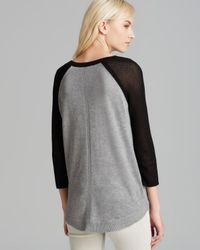 Rag & Bone Gray Pullover Lexie Color Block Raglan