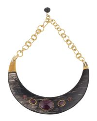 Ashley Pittman | Red Ruby-station Collar Necklace | Lyst