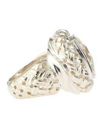 Slane - Metallic Basket Woven Ring - Lyst