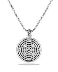 David Yurman | Metallic Labyrinth Small Disc Pendant With Diamonds | Lyst