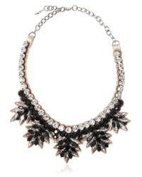 Valentino | Black Swarovski Crystals Necklace | Lyst