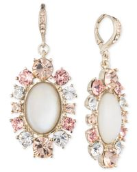 Givenchy | Metallic Gold-tone Mother-of-pearl Drop Earrings | Lyst