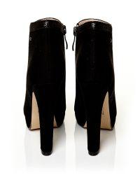 Moda In Pelle Black Berenice V High Smart Short Boots