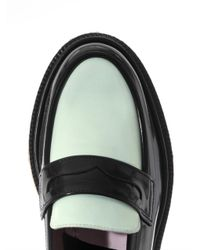 Adieu Green Polido Leather Loafers for men
