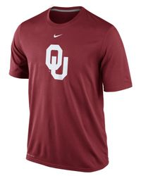Nike - Red Men'S Oklahoma Sooners Dri-Fit Logo Legend T-Shirt for Men - Lyst