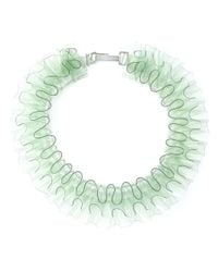Mary Katrantzou - Green Ruffled Necklace - Lyst