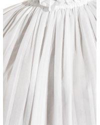 Stella McCartney - White Linette Ruffle-Neck Cotton Top - Lyst