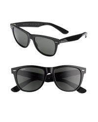 Ray-Ban Black 'classic Wayfarer' 50mm Polarized Sunglasses for men