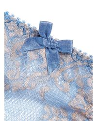 L'Agent by Agent Provocateur - Blue 'iana' Cutout Lace Thong - Lyst