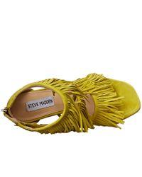 Steve Madden Yellow Fringly