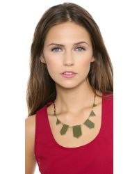 House of Harlow 1960 - Green Five Station Necklace Olive - Lyst