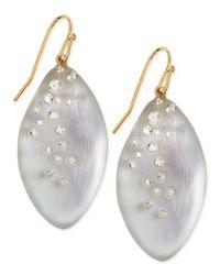 Alexis Bittar Metallic Medium Crystal-Dust Lucite Leaflet Earrings (Made To Order)