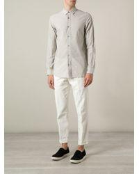 Ann Demeulemeester White Linen Chinos for men