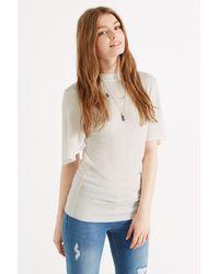 Oasis White Kimono Sleeve High Neck Top