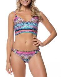 Jessica Simpson Multicolor Bali Breeze Bikini Top