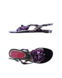 Poetic Licence - Purple Toe Strap Sandal - Lyst