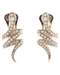 Roberto Cavalli - Metallic Snake Earrings - Lyst