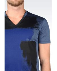 Emporio Armani - Blue T-shirt In Cotton Jersey for Men - Lyst