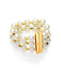 Tory Burch | White Tilde Multistrand Bracelet | Lyst