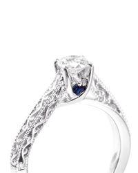 Vera Wang Love - Metallic Ice - Solitaire Diamond Ring - Lyst