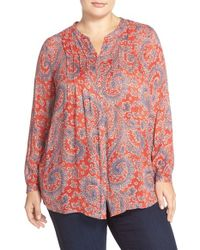 Lucky Brand - Paisley Textured Woven Top - Lyst