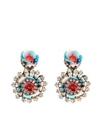 Shourouk | Multicolor Flower Aqua Earrings | Lyst