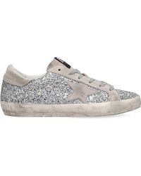 Golden Goose Deluxe Brand Metallic Superstar Glitter Low-Top Sneakers