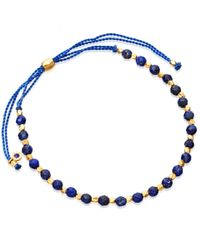 Astley Clarke | Metallic Gold-plated Lapis Skinny Biography Bracelet | Lyst