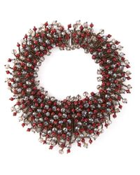 Night Market | Brown 'Pomegranate Snow Grape' Necklace | Lyst
