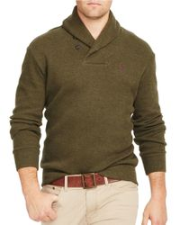 Polo Ralph Lauren | Green French-rib Shawl Pullover for Men | Lyst