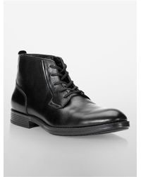 Calvin Klein | Black White Label Harding Lace-up Boot for Men | Lyst