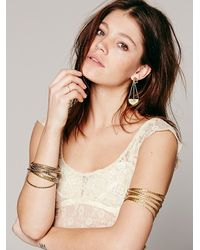 Free People - Natural Allover Lace Cap Sleeve - Lyst