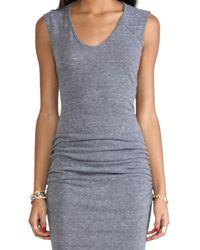 C&C California | Muscle Tee Dress in Gray | Lyst