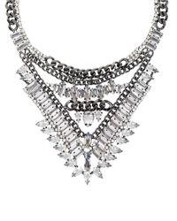 BCBGMAXAZRIA | Metallic Spike Stone Statement Necklace | Lyst