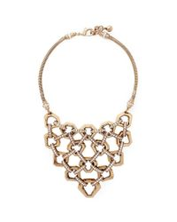 Lulu Frost | Metallic 'narcissus' Honeycomb Chain Link Plastron Necklace | Lyst