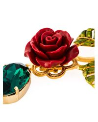 Dolce & Gabbana   Green Rose Crystal Beads Necklace   Lyst