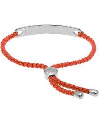 Monica Vinader - Poppy Red Havana Silver Friendship Bracelet - Lyst