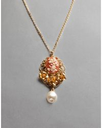 Dolce & Gabbana - Metallic Gold-plated Metal Necklace - Lyst