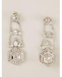 Roberto Cavalli   Metallic Dropped Geometric Earrings   Lyst